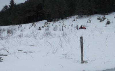 Snowmobiles – South of Coburn Pond